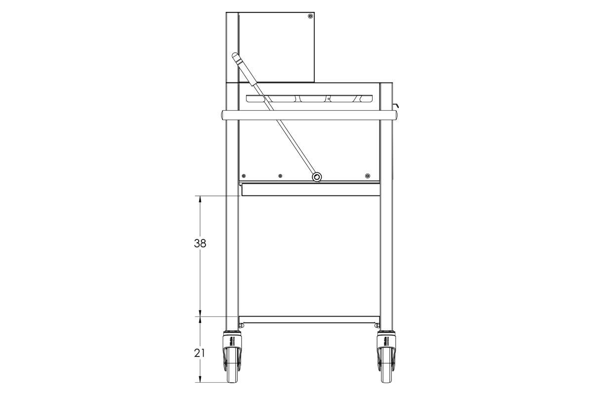 Gastronomie-Holzkohlegrill-Profistar-1000-II-Masse-3