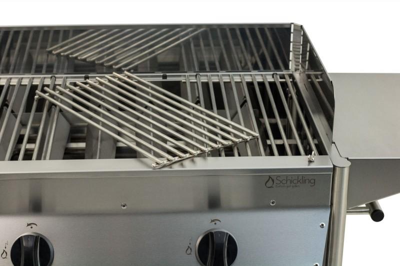 Gas Oder Holzkohlegrill Xl : Schickling grill holzkohlegrill edelstahl premio gas xl